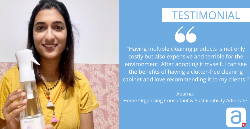 APARNA'S TESTIMONIAL ON HER USAGE OF AQUAMA®  AS A HOME ORGANISING CONSULTANT & SUSTAINABILITY ADVOCATE